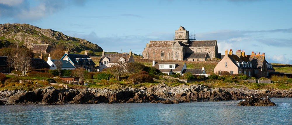 Iona Abbey as you arrive on the ferry