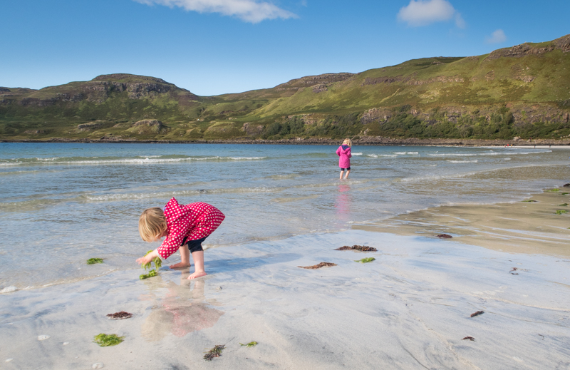 kids at beach isle of mull