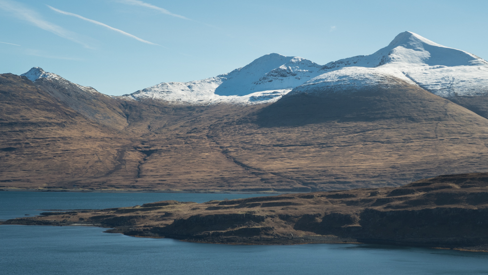 Ben More on the Isle of Mull with a covering of snow