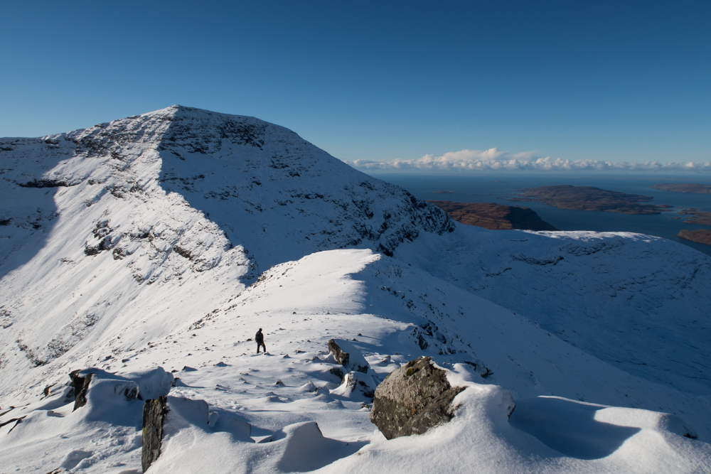 Ben More ridge on Mull in winter