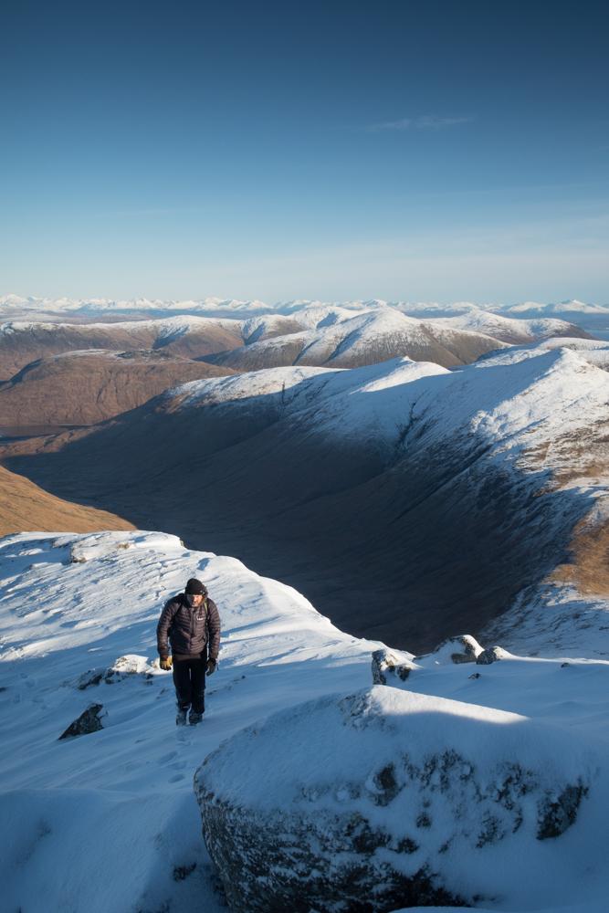 Walker climbs A'Chioch on Mull