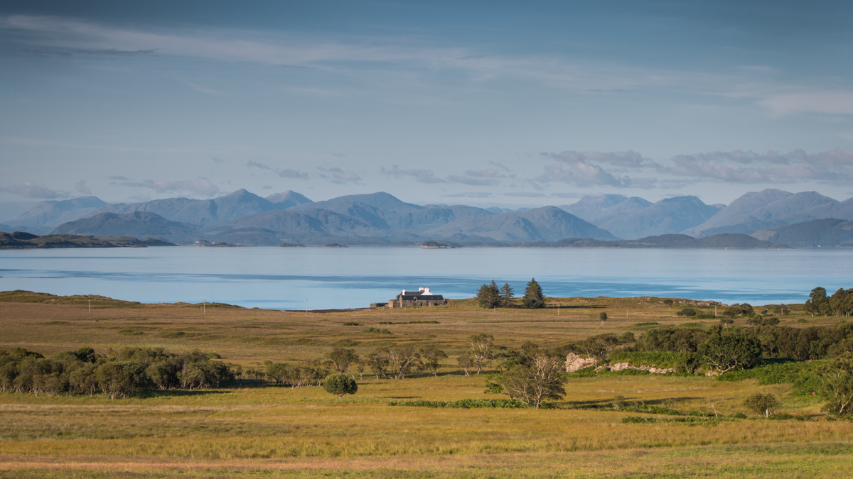 Summer view over Grasspoint on Mull