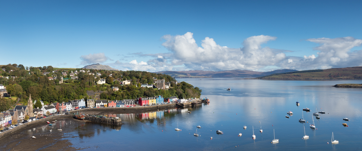 The Sound of Mull stretches along one side of the island's coast, with treasures including Grasspoint, Salen, Tobermory and even dive sites to be enjoyed!