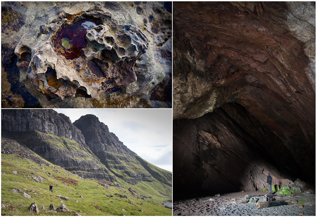 Geology of Mackinnons cave and Ardmeanch Mull
