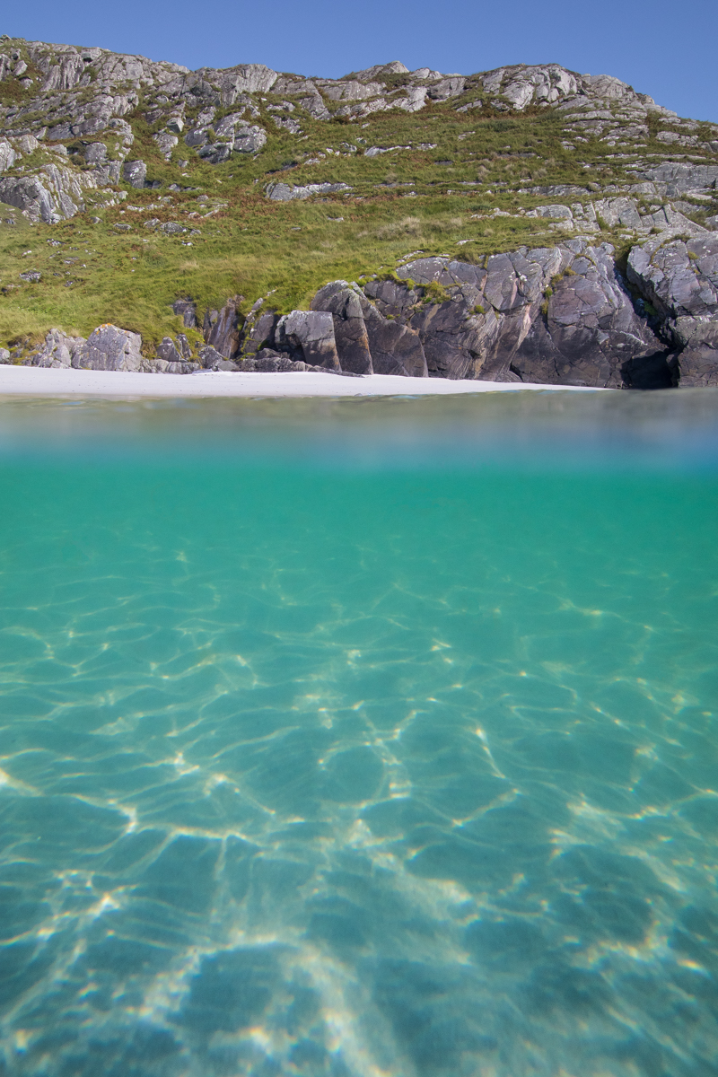 A hidden sandy cove in South West Mull for the most secluded wild swims