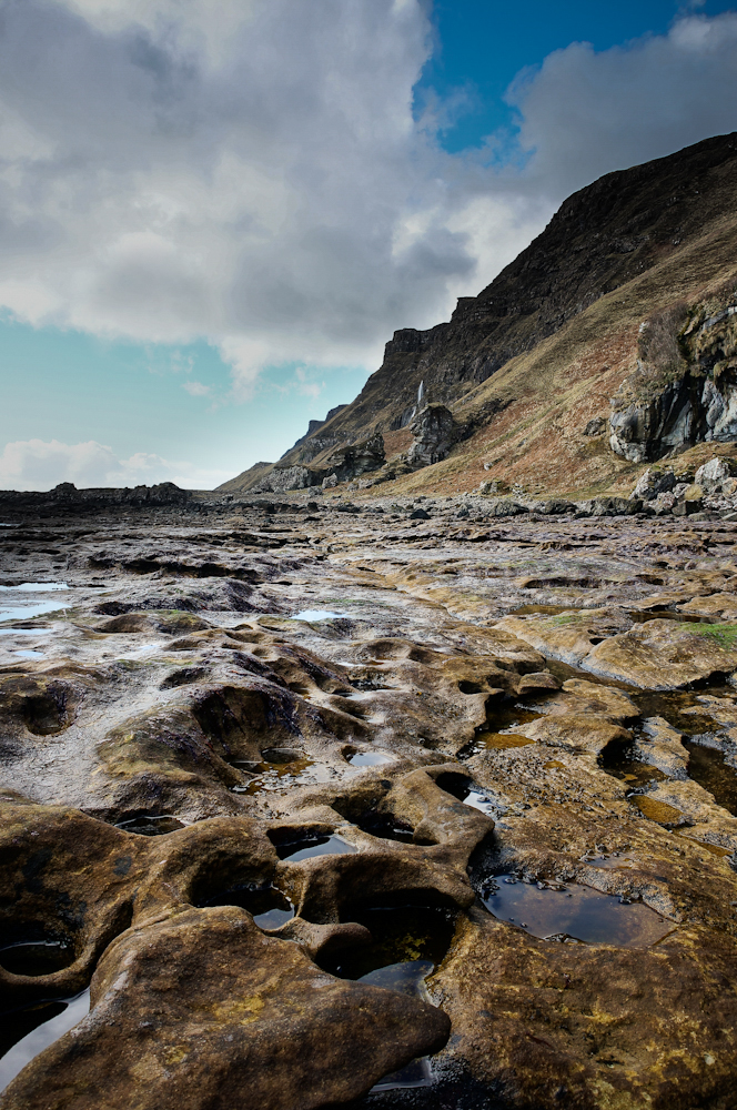 Rock pools along the way to the Carsaig Arches