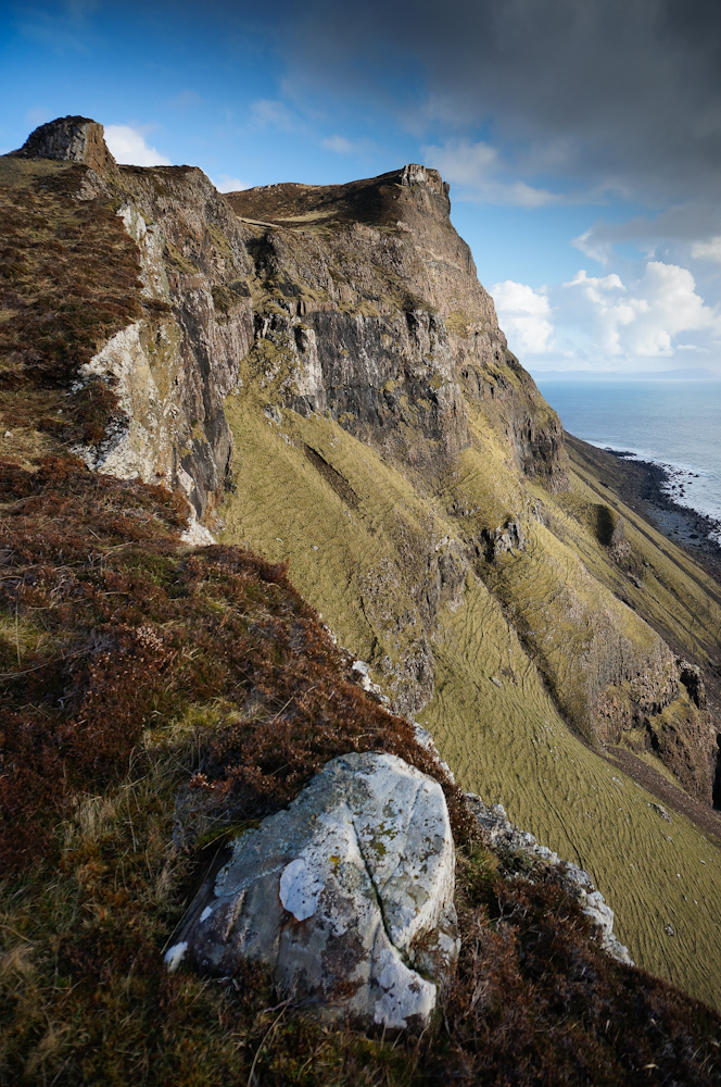 Steep hillsides around Carsaig