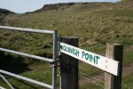 Signpost to Quinnish point on the Isle of Mull