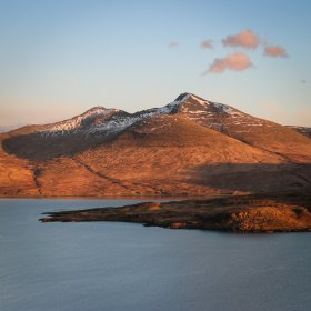 Ben More with the little island of Eorsa in front