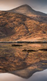 Ben more reflecting in Loch Scridain