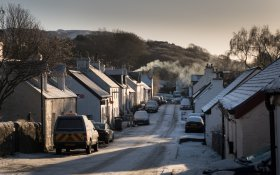 Dervaig under winter snow