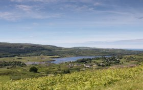 Dervaig village on the Isle of Mull's north coast