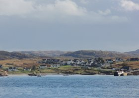 Looking back toward Fionnophort on Mull from Iona