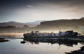 Fishing boats near Salen