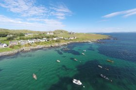Baile Mor on Iona with the Abbey in the distance