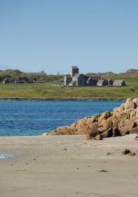 Iona abbey from Fionnphort beach