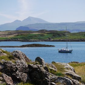 Isle of Ulva with Ben More beyond