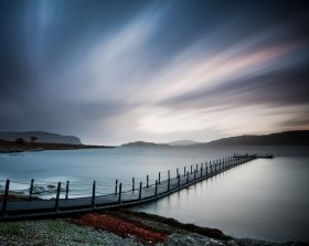Pontoon in Loch na Keal