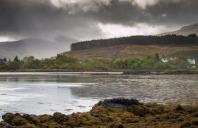 Salen bay after rain