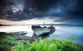 Old boats near Salen
