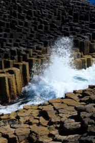 Waves breaking on Staffa