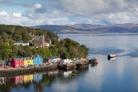 Tobermory as the Kilchoan ferry arrives