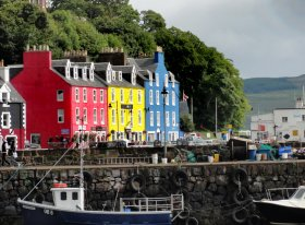The iconic painted buildings of Tobermory