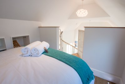 Double bedroom on mezzanine level