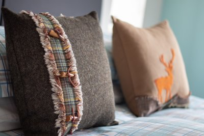 High quality soft furnishings make Bun Creige feel cosy and romantic