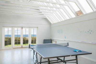 Head to the garden studio, once an artist's retreat, and make use of the games room