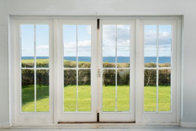 Soak up the stunning sea views from the garden studio whatever the weather brings