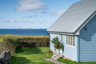 Gorgeous sea views from the grounds of Balmeanach Farmhouse