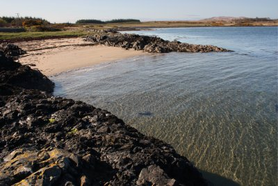 Sandy bay near Duart Castle