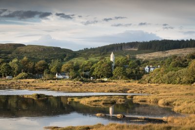 Dervaig village is just over a mile from the house