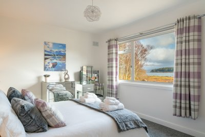 Wake up to sea views from the stunning master bedroom