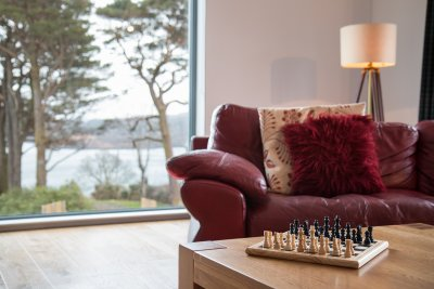 Chess and sitting area