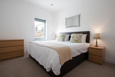 Double bedroom, all rooms are spacious with quality bedding