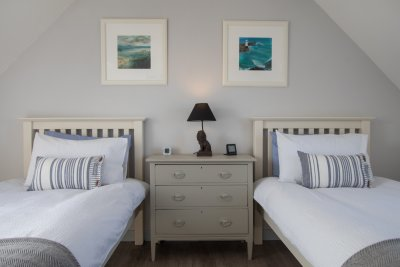 Neutral colours in the bedroom with soft furnishings to complement