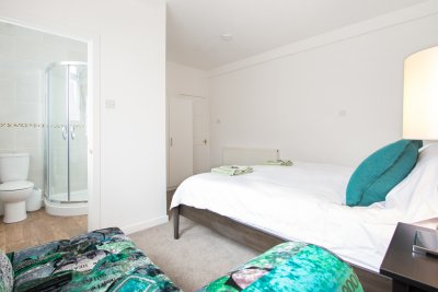 Double bedroom at Cove Cottage