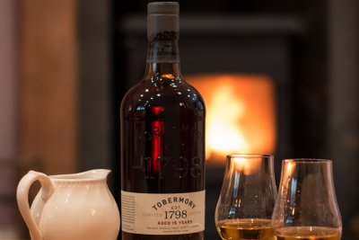 Enjoy a local whisky in the evening by the fire