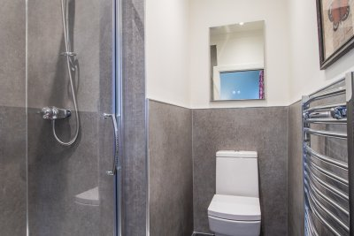 One of two en-suite shower rooms for the double bedrooms