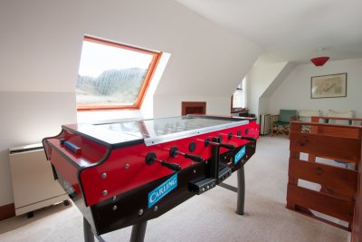 Games room in the annexe
