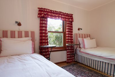Twin bedroom in the annexe
