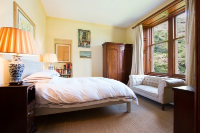 King sized double bedroom with stunning view