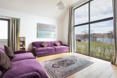 Sofas and artwork in Craignure Bay House