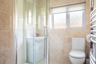Family bathroom with large walk in shower