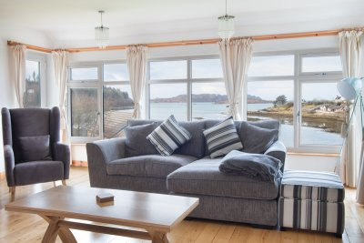 Fantastic views from the large windows in the living area