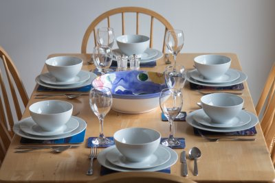 Table set for guests