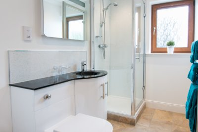 The ensuite bathroom for the double