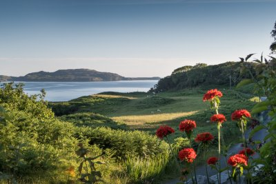 Gorgeous sea view of Loch Tuath and surrounding countryside from the house